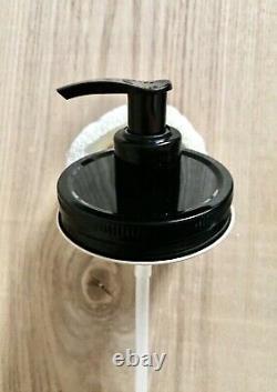100 Black Mason Jar Soap/Lotion Dispenser Pump Lids. Wholesale Value Pack