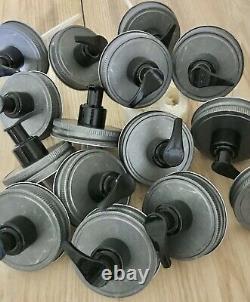 100 Pewter Color Mason Jar Soap/Lotion Dispenser Lids Wholesale/Bulk Value Pack