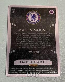 2020-21 Impeccable EPL MASON MOUNT Stainless Stars Metal 57/57=1/1