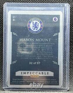 2020-21 Panini Impeccable EPL =Mason Mount= Stainless Stars # /57 Chelsea