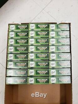 24 Boxes/12 BALL Regular Mouth Dome Lids For Mason Jars Canning Preserving