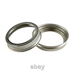 250 Pack. Regular Mouth Mason Jar Replacement Rings, Rustproof Metal Bands