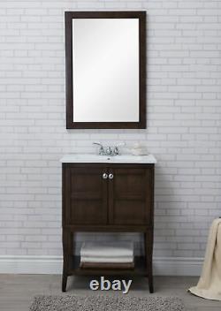 2 Doors Cabinet 24 In. X 18 In. X 34 In. In Antique Coffee