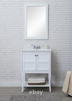 2 Doors Cabinet 24 In. X 18 In. X 34 In. In White