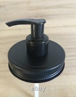 50 Matte Black Mason Jar Soap/Lotion Dispenser Pump Lids. Wholesale Bulk Rate