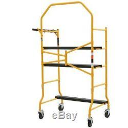 5 x 4 ft Scaffold Mini Folding Tool Shelf Ladder Multipurpose Locking Metal Tool