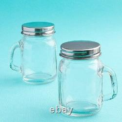 60 Vintage Mini Glass Mason Candy Jars Wedding Bridal Shower Party Favors