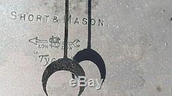 ANTIQUE BIG 9 Wall BAROMETER Short & Mason London Tycos Works RARE All Metal