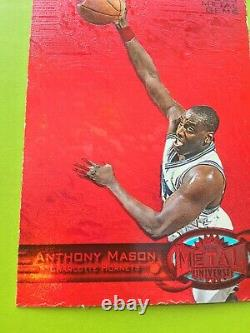Anthony Mason 1997-98 Fleer Metal Universe Pmg Ruby Red /100 Precious Metal Gems