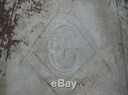 Antique Freemasons Masonic Lodge Metal ceiling tile