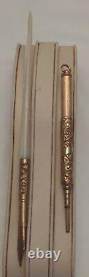 Antique Winsor & Mason MOP No. 6 Fountain Pen and Slide Pencil Set