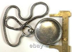 Aurapole, Short and Mason Compass. Metal Lanyard. Antique Pendant fob