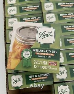 BALL Regular Mouth Mason Canning Jar Lids 24 Boxes, Full Case! 288 Total Lids
