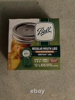 BALL Regular Mouth Mason Canning Jar Lids 24 Boxes, Full Case! BPA Free! 288