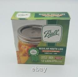 BALL Regular Mouth Mason Canning Jar Lids (Full Case) 24 Boxes of 12 (288 Total)