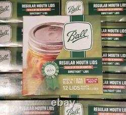 BRAND NEW BALL Regular Mouth Mason Canning Jar Lids 288 Total Lids In-Hand