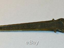 Ball Jar LETTER OPENER Perfect Mason Metal Antique Advertising Bros Muncie IND