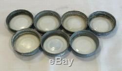 Ball Perfect Mason Blue Jars & Zinc Lids Metal Wire Rack Vintage Quart set of 7