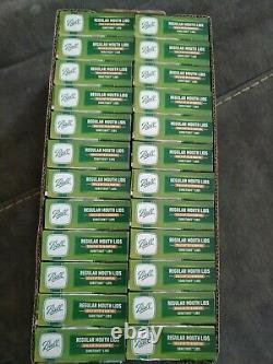 Ball REGULAR MOUTH Mason Jar Lids Canning 24 Box Case 288 Lids
