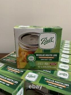 Ball REGULAR MOUTH Mason Jar Lids Canning 24 Boxes total 288 Lids. NEW
