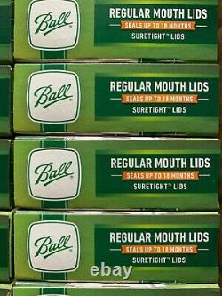 Ball Regular Mouth Canning Mason Jar Lids 24 Boxes of 12 288 TOTAL