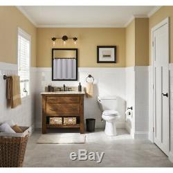 Bathroom Vanity 3 Light Fixture Aged Bronze Mason Jar Wall Lighting Allen + Roth