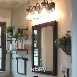 Bathroom Vanity Lights Mason Jar Sconce Farmhouse Rustic Decor Kitchen Home New
