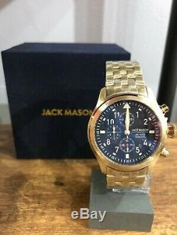 Bnib Jack Mason Gold & Black Aviation Watch Jm-a102-304