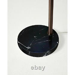 Brightech Mason Arc Floor Lamp Drum Shade & LED Light Bulb, Bronze (Open Box)