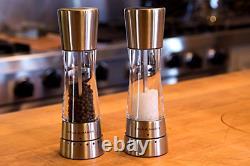 COLE & MASON Derwent Salt and Pepper Grinder Set Stainless Steel Mills Includ