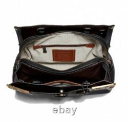 Coach 1941 Mason Metal Tea Rose Satchel Black 38716 NWT Dustbag $795 RARE