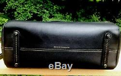 Coach 1941 Metal Tea Rose Mason Satchel Black Leather 38716 Nwt Msrp $995