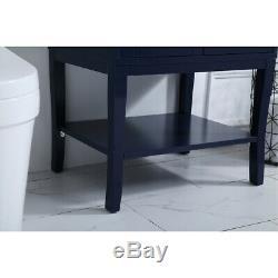 Elegant Lighting VF2100BL Mason Blue Vanity Sink Set