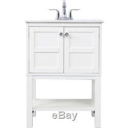 Elegant Lighting VF2524WH Mason White Vanity Sink Set