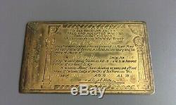 Free Mason Masonic Fraternal Master Mason Metal Membership Card 1949