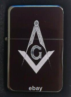 Freemason Masonic Flip Metal Petrol Lighter