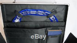 Freemason Masonic Metal Apron & Collar Case FREE S&H