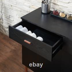 Furniture of America Mason Modern Black Solid Wood Buffet