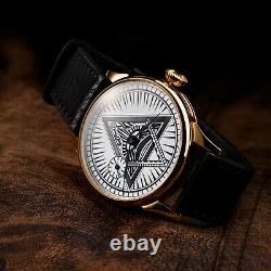 Gold Mason Molnija USSR soviet watch russian vintage pocket watch on wrist