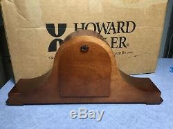 HOWARD MILLER, KEY WOUND, CHERRY FINISH MANTEL CLOCK 630-161 MASON Open Box