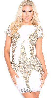 Holt Miami Dress Solange in white with gold NO Tags Size Small $529