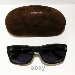 INWT- Tom Ford Mason TF445 02D Sunglasses Matte Black Square Polarized +Case $36