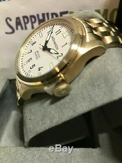 JACK MASON Men's 42mm Aviation Three-Hand Bracelet Watch JM-A101-321 New