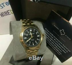 JACK MASON Men's 42mm Black Aviator Gold Stainless Steel Watch JM-A101-308 New