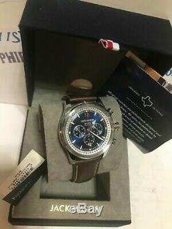 JACK MASON Men's 42mm Nautical Brown Italian Leather Watch JM-N102-015 New