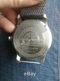 JACK MASON N101-039 Men's Super Luminova Markings Perlon Nylon Strap Watch