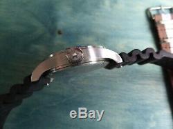 Jack Mason Aviator JM-A101 42 mm Black Dial w Black Rubber + Brown White Nylon