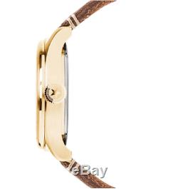 Jack Mason JM-A101-206 Aviation Navy Dial Saddle Brown Leather 3 Hand Watch