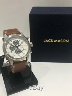 Jack Mason Men's Aviation Pursuit Chronograph Watch JM-A102-201 NWT