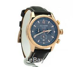 Jack Mason Men's Nautical Chronograph Leather Watch JM-N102-025, New